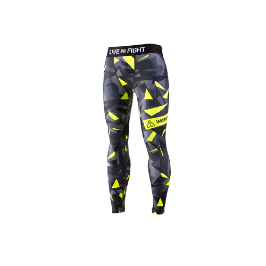 MEN`S LEGGINGS-ATHLETIC CAMO LIME