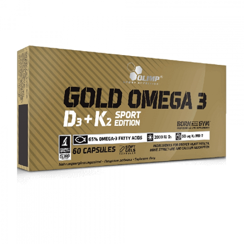 Gold Omega 3 D3+K2 Sport Edition, 60 КАПСУЛ