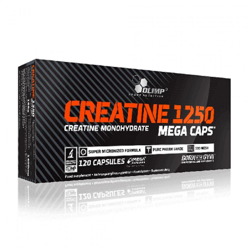 CREATINE 1250 MEGA CAPS,  120 КАПСУЛ