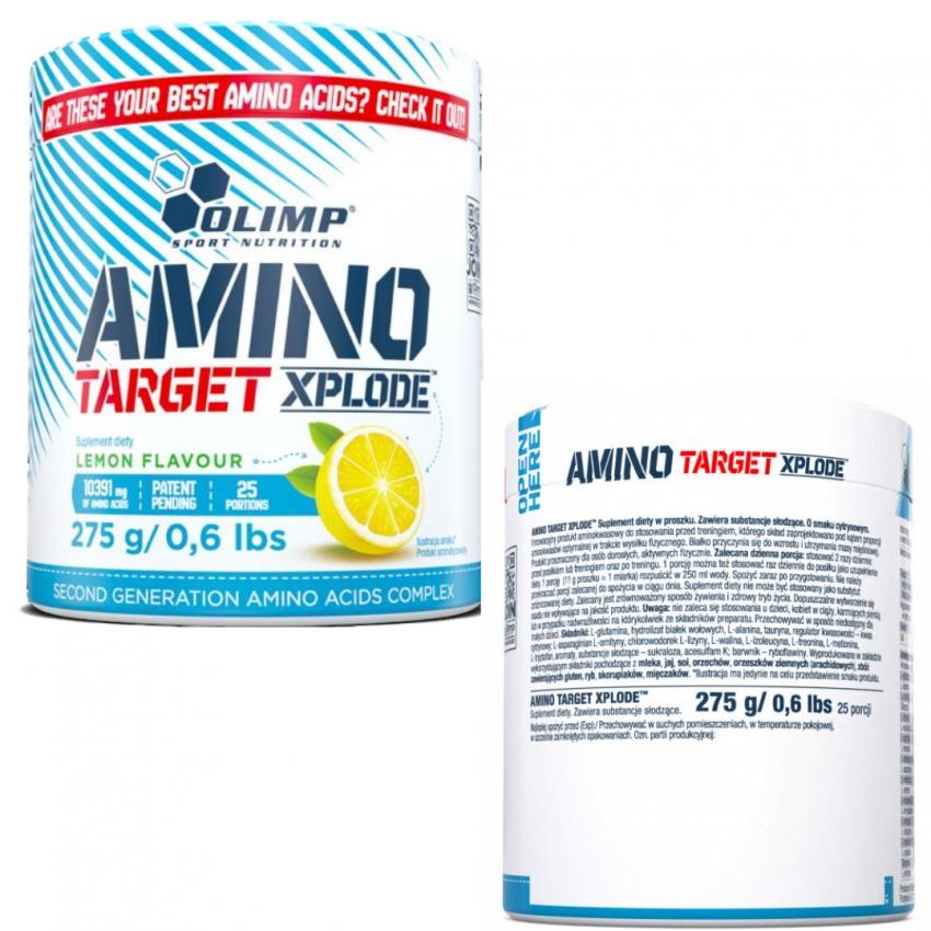 Amino TARGET XPLODE 275GR lemon flavour
