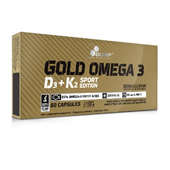 Gold Omega 3 D3+K2 Sport Edition, 60 KAPSUL